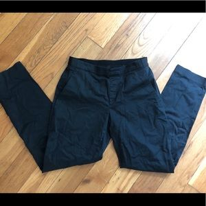 Uniqlo black pants with stretchy waist, small